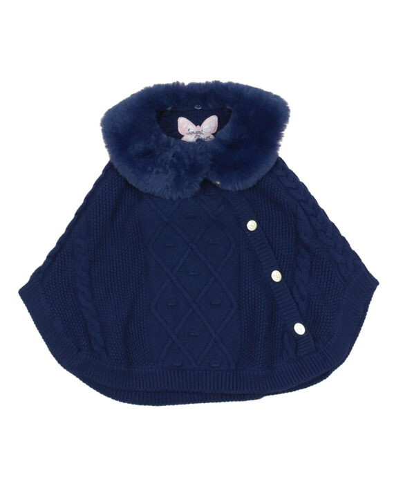 poncho fille tricot